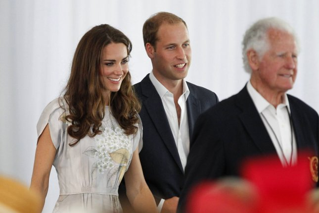 Prince William (C) and his wife Catherine, the Duke and Duchess of Cambridge, with Former U.S. Ambassador to Jamaica Glen Holden (R), attend the princes charity event in support of the American Friends of The Foundation of Prince William and Prince Harry at the Santa Barbara Polo and Racquet Club in Santa Barbara, California on July 9, 2011. UPI/Alex Gallardo/pool