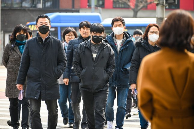 South Korea implemented a mask mandate on Tuesday, requiring face coverings on public transport and in high-risk locations such as hospitals and long-term care facilities in order to contain the spread of the coronavirus. Photo by Thomas Maresca/UPI
