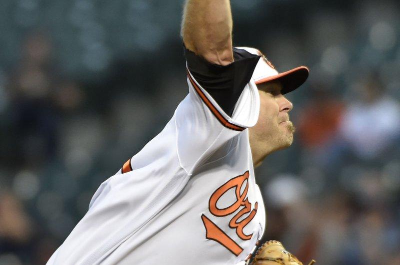 Baltimore Orioles starting pitcher Chris Tillman. Photo by David Tulis/UPI