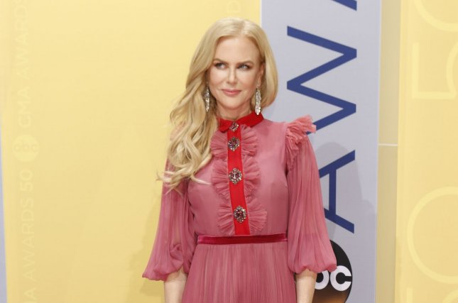 Nicole Kidman arrives at the 2016 Country Music Awards at Bridgestone Arena in Nashville, Tennessee on November 2, 2016. Photo by John Sommers II/UPI