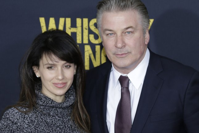Hilaria and Alec Baldwin arrive on the red carpet at the Whiskey Tango Foxtrot world premiere on March 1, 2016 in New York City. Baldwin hosted Saturday Night Live for the 17th time this weekend. File Photo by John Angelillo/UPI
