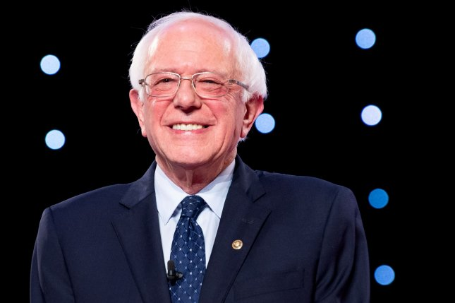 Democratic presidential candidate Bernie Sanders unveiled a plan Thursday to legalize marijuana throughout the United States, reverse marijuana convictions and regulate the marijuana industry. File Photo by Kevin Dietsch/UPI