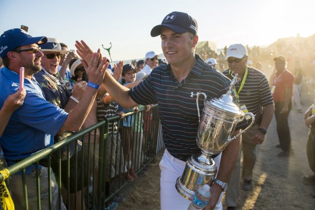 Jordan Spieth will try for his third straight major in one season at the Open Championship at St. Andrews. File photo by Kevin Dietsch/UPI