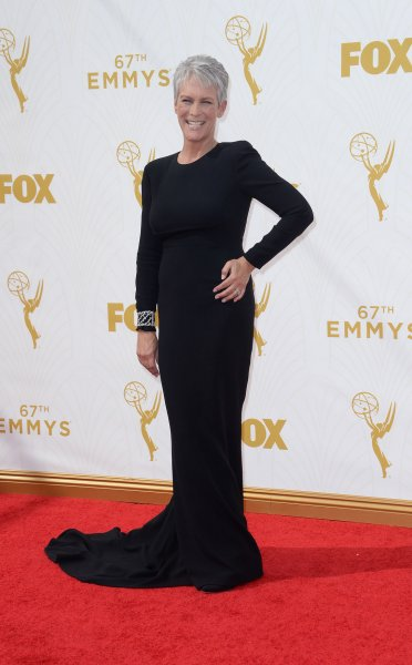 Jamie Lee Curtis, seen here at the 67th Primetime Emmy Awards in September, channeled her mother's legacy during a special 'Psycho'-inspired scene for 'Scream Queens.' File Photo by Jim Ruymen/UPI.