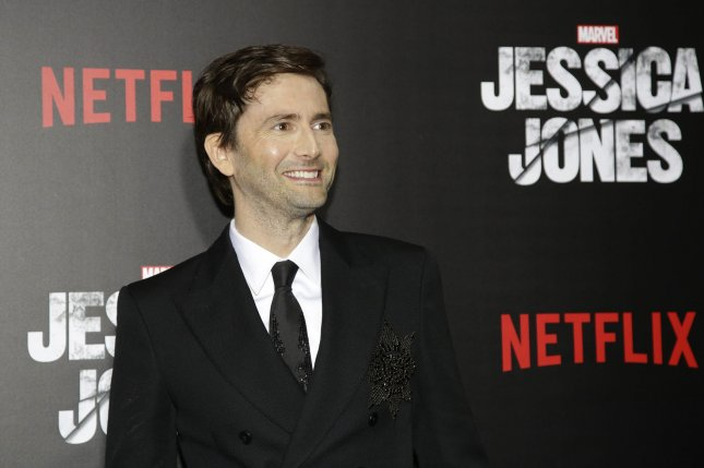 David Tennant arrives at the Netflix premiere of Marvel's Jessica Jones on November 17, 2015 in New York City. Tennant will soon be seen in Season 3 of Broadchurch. File Photo by John Angelillo/UPI
