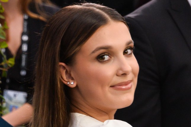 Millie Bobby Brown's Godzilla vs. Kong is No. 1 at the North American box office for a third weekend. File Photo by Jim Ruymen/UPI