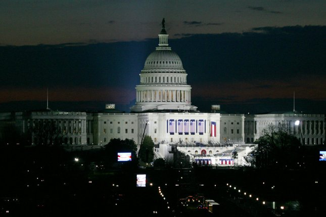 The Capitol dome illuminated in the pre dawn hours before Barack Obama was sworn in as the 44th President of the United States of America during his Inauguration Ceremony on Capitol Hill in Washington on January 20, 2009. (UPI Photo/Arianne Teeple)