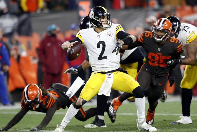 Pittsburgh Steelers quarterback Mason Rudolph (2) suffered a shoulder injury during Sunday's loss to the New York Jets. File Photo by Aaron Josefczyk/UPI