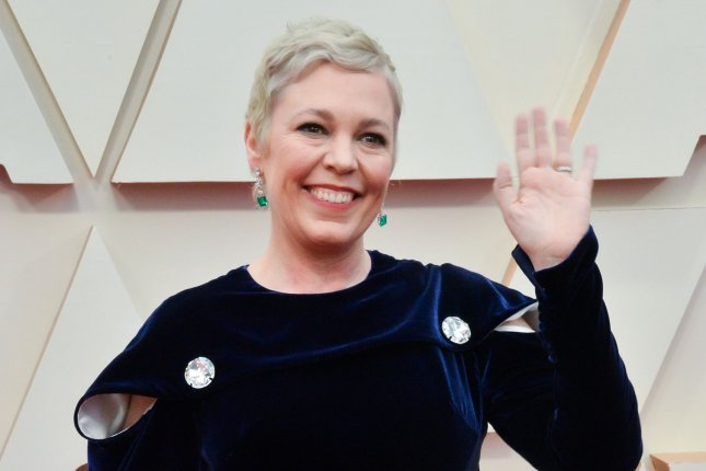 The Crown star Olivia Colman arrives for the 92nd annual Academy Awards in February 2020. The Crown, The Mandalorian and WandaVision lead Emmy nominations. File Photo by Jim Ruymen/UPI