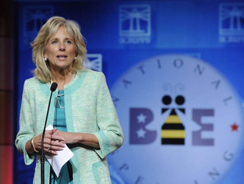 Jill Biden cheers Brooklyn college grads