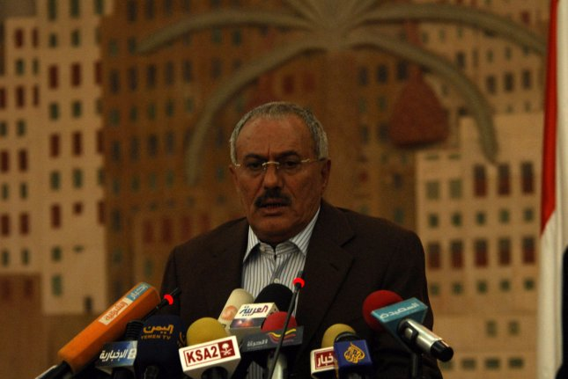 Yemeni President Ali Abdullah Saleh, whose health is reportedly improving. UPI\Mohammad Abdullah..