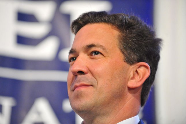 Republican Senate candidate Chris McDaniel speaks at a rally after losing his primary runoff election against incumbent Sen. Thad Cochran (R-MS), in Hattiesburg, Mississippi, June 24, 2014. UPI/Matt Bush