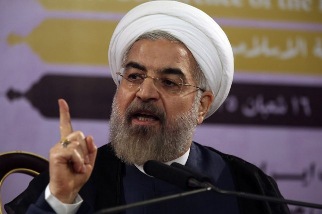 Iranian President Hassan Rouhnai on April 2, 2015 said his government will fully cooperate and follow through with terms of a deal with Western powers over Tehran's nuclear program and the lifting of crippling economic sanctions. Photo: UPI