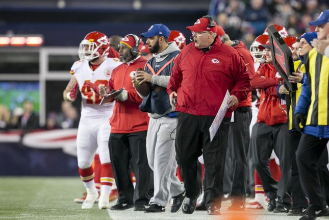 The Kansas City Chiefs who have earned a playoff berth, can seize the AFC West division title and earn a first-round bye with a win and an Oakland loss. Photo by Kelvin Ma/UPI