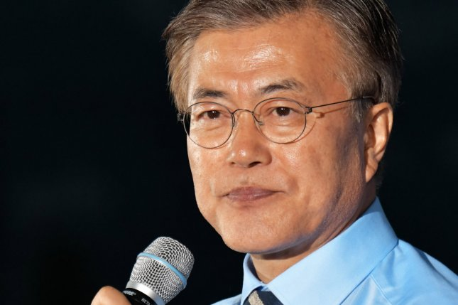 South Korean President Moon Jae-in is being criticized for his administration's decision to delay the deployment of four additional THAAD launchers. File Photo by Keizo Mori/UPI