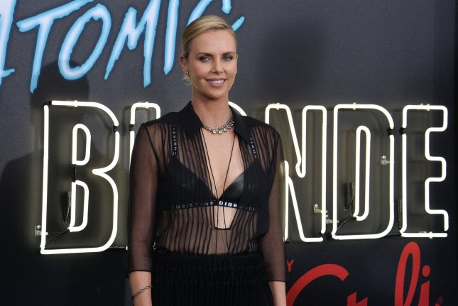 Charlize Theron attends the Los Angeles premiere of Atomic Blonde on Monday. The actress plays Lorraine Broughton in the new film. Photo by Jim Ruymen/UPI