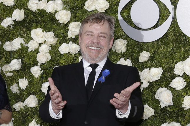 Mark Hamill arrives on the red carpet at the 71st Annual Tony Awards on June 11 in New York City. The actor will lend his voice to a character in Season 2 of DreamWorks Trollhunters on Netflix. File Photo by John Angelillo/UPI