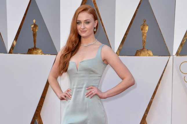 Sophie Turner appears in the first trailer for upcoming X-Men sequel, Dark Phoenix. File Photo by Kevin Dietsch/UPI