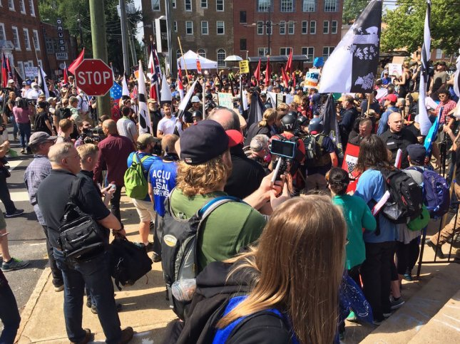 Four men were charged with one count of conspiracy to violate the federal riots statute and one count of violating the federal riots statute for their role in violence at the Aug. 12, 2017, Unite the Right rally in Charlottesville, Va. File Photo courtesy of Virginia State Police