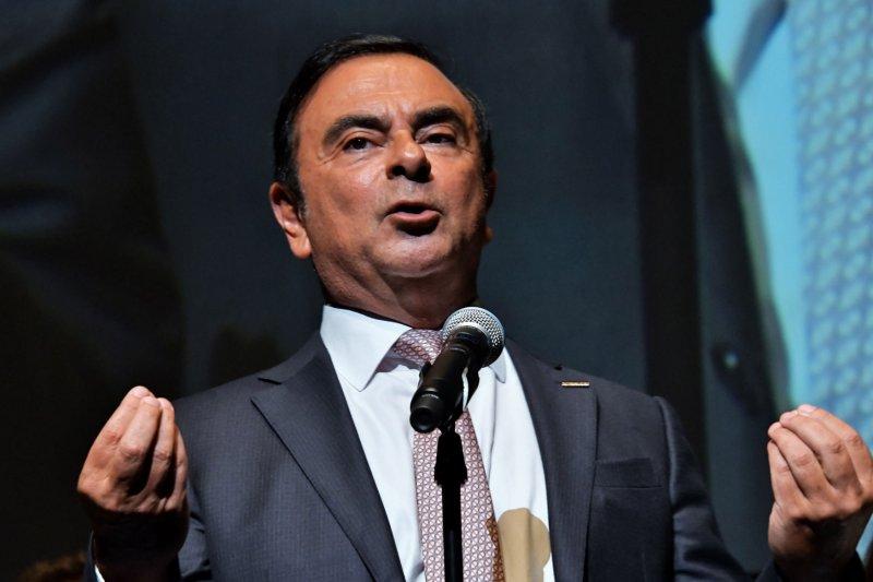 Former Nissan Chairman Carlos Ghosn remains a fugitive in Lebanon. File Photo Keizo Mori/UPI