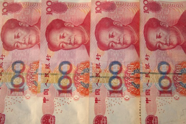 A bank in China was only able to partly recover damaged bank notes buried underground for five years, according to local press reports. File Photo by Stephen Shaver/UPI
