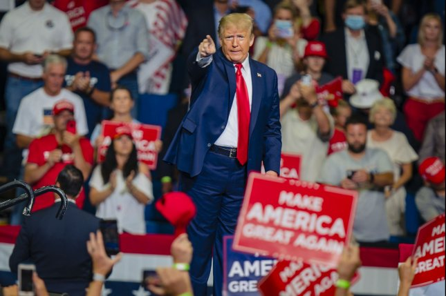 Jacksonville, the Florida city set to host President Donald Trump's Republican National Convention acceptance speech, announced a mandatory mask requirement for public locations on Monday. Photo by Kyle Rivas/UPI