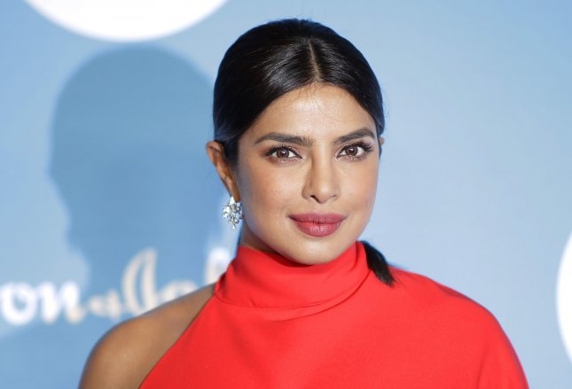 Priyanka Chopra Jonas is set to star alongside Sam Heughan in a romantic drama tentatively titled Text For You, from director Jim Strouse. The movie is inspired by 2016 German film SMS Fur Dich. File Photo by John Angelillo/UPI