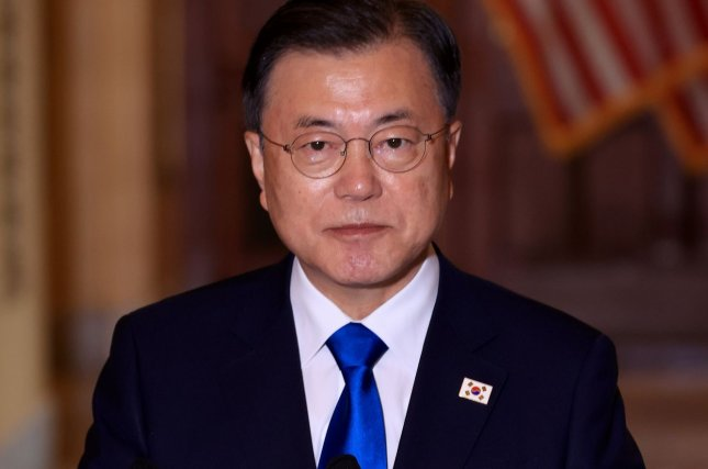 South Korean President Moon Jae-in began his trip to Washington, D.C. calling for bilateral cooperation between the two nations ahead of a summit with President Joe Biden. FilePool Photo by Chip Somodevilla/UPI