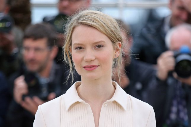 Mia Wasikowska at a Cannes International Film Festival photocall for 'Maps to the Stars' in 2014. The actress returns as Alice in the first 'Alice Through the Looking Glass' teasers. File Photo by David Silpa/UPI