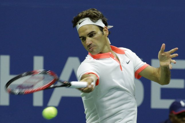 Roger Federer of Switzerland. Photo by Ray Stubblebine/UPI