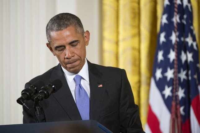 President Barack Obama, seen here during a White House press conference where he defended the Iran nuclear agreement, has been criticized for a $400 million cash payment that coincided with Iran's January release of four American prisoners. File Photo by Kevin Dietsch/UPI