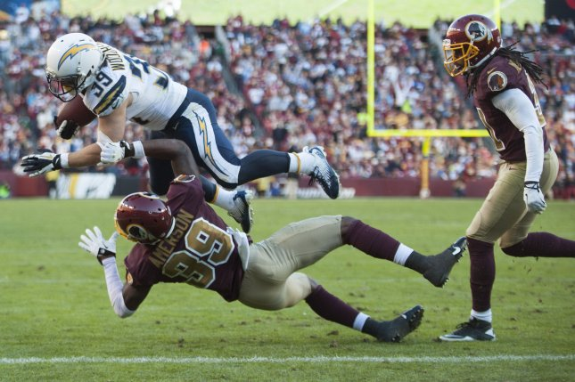 San Diego Chargers running back Danny Woodhead (39). UPI/Kevin Dietsch