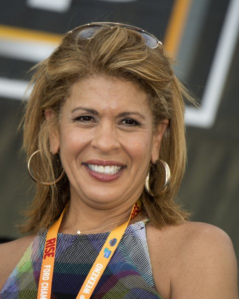 Hoda Kotb attends the NASCAR Sprint Cup Series on November 22, 2015. The television personality shared the story of her daughter's adoption Monday on Today. File Photo by Joe Marino, Bill Cantrell/UPI