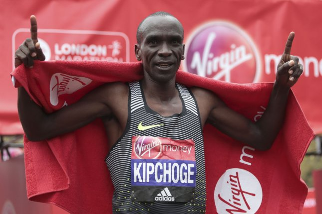 Eliud Kipchoge is the focus of a new documentary titled The Last Milestone, from executive producer Ridley Scott. File Photo by Hugo Philpott/UPI.