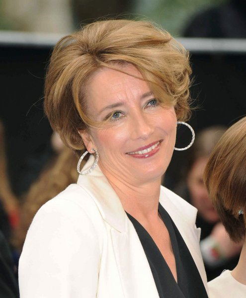 English actress Emma Thompson attends the World premiere of Men In Black 3 at The Odeon Leicester Square in London on May 16, 2012. UPI/Paul Treadway