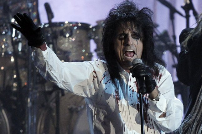 Alice Cooper performs with Rob Zombie on the night when he is inducted into the Rock and Roll Hall of Fame at the Induction Ceremonies at the Waldorf Astoria in New York City on March 14, 2011. UPI/John Angelillo