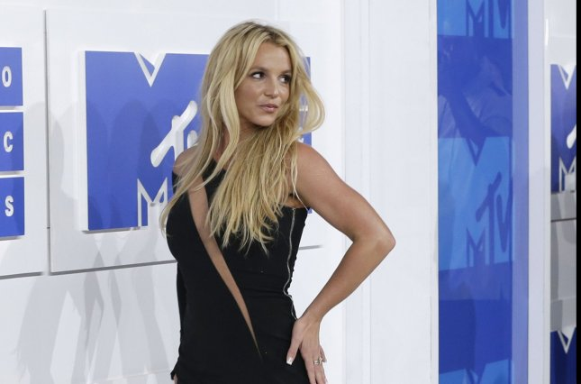 Britney Spears arrives on the red carpet at the 2016 MTV Video Music Awards at Madison Square Garden in New York City on August 28, 2016. Spears lit up the stage at the award show with a steamy performance alongside rapper G-Eazy. Photo by John Angelillo/UPI