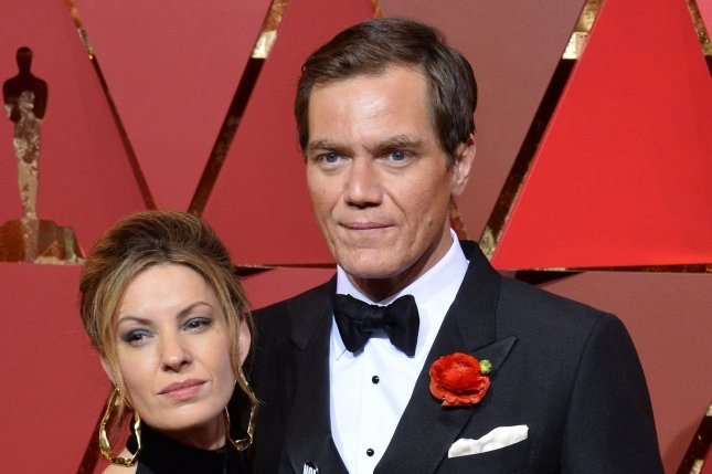 Michael Shannon and Kate Arrington arrive on the red carpet for the 89th annual Academy Awards on February 26. Shannon is in the running to star as X-Men character Cable in Deadpool 2. File Photo by Jim Ruymen/UPI