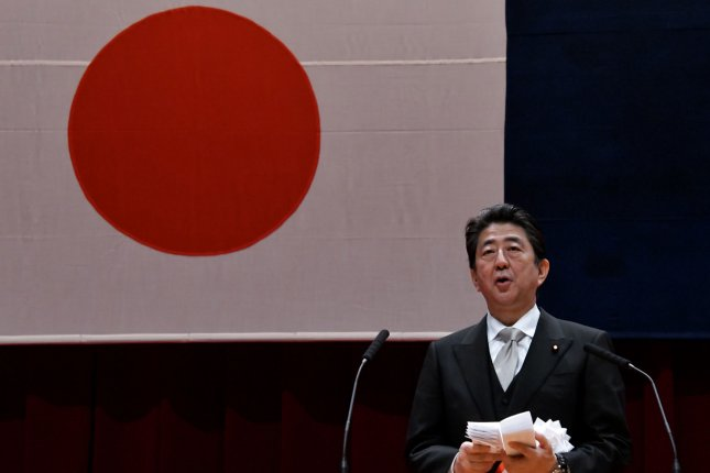 Japan 's Prime Minister Shinzo Abe has expressed hopes of a summit with Kim Jong Un. Photo by Keizo Mori/UPI