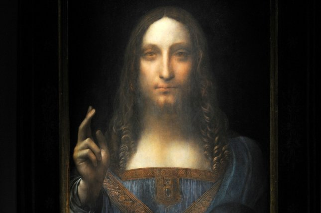 Leonardo da Vinci's original Salvator Mundi painting sold for $450 million at Christie's auction in New York City in November 2017. File Photo by Dennis Van Tine/UPI