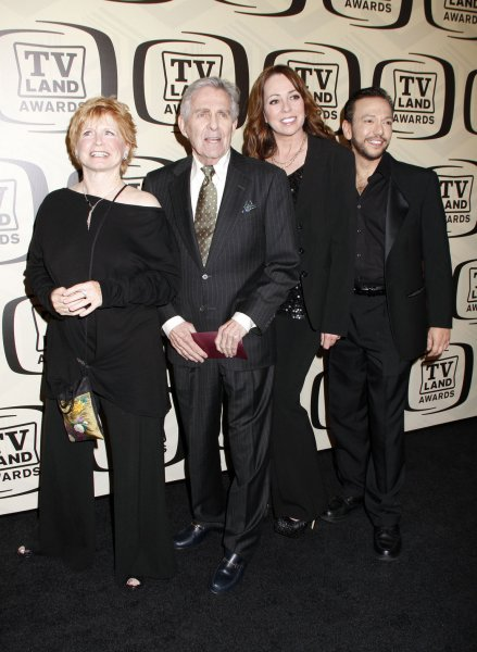 The Cast of One Day at a Time - Bonnie Franklin, Pat Harrington, Mackenzie Phillips and Glenn Scarpelli arrive for the 10th Anniversary of the TV Land Awards at the Lexington Avenue Armory in New York on April 14, 2012. UPI /Laura Cavanaugh