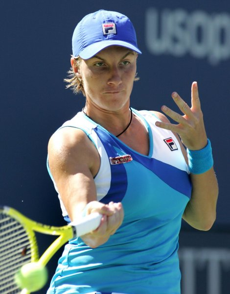 Svetlana Kuznetsova, shown playing in last year's U.S. Open, was a three-set winner Tuesday in first-round play of a WTA tournament in Spain. UPI/Monika Graff