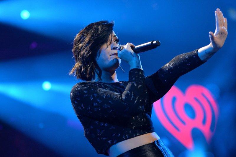 Demi Lovato. Photo by Kevin Dietsch/UPI