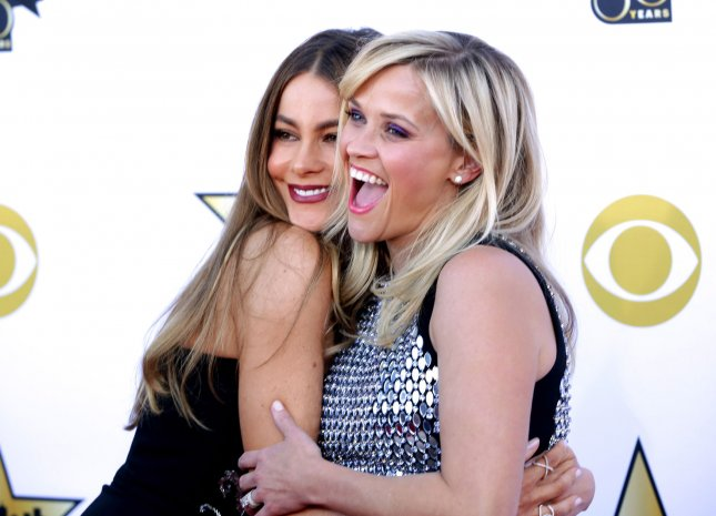 Sofia Vergara almost had her teeth knocked out by Reese Witherspoon while the two filmed 'Hot Pursuit'. File Photo by John Angelillo/UPI