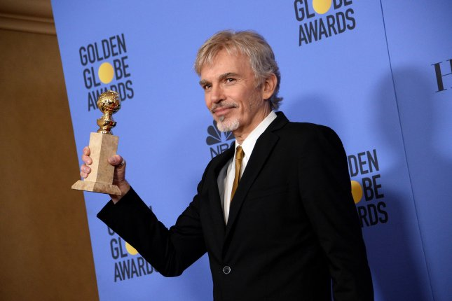 Goliath star Billy Bob Thornton, winner of the award for Best Performance by an Actor in a Television Series -- Drama, appears backstage during the 74th annual Golden Globe Awards in Beverly Hills on January 8. File Photo by Jim Ruymen/UPI
