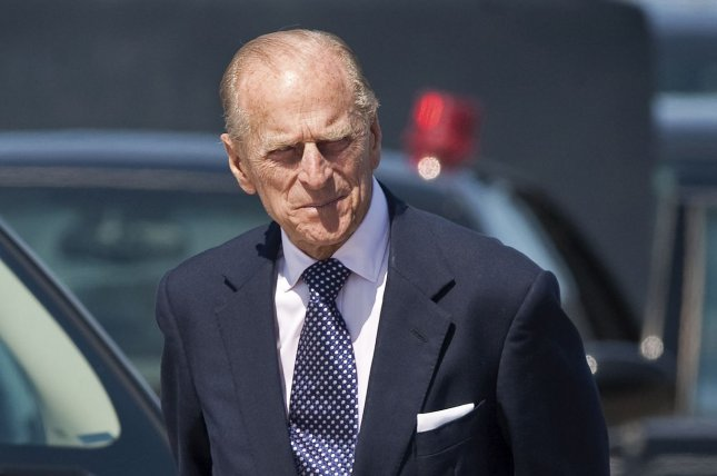 Great Britain's Prince Philip arrives at Macdonald Cartier International airport in Ottawa, Ontario, on July 3, 2010. The 95-year-old has been taken to a hospital for an infection. File Photo by Heinz Ruckemann/UPI