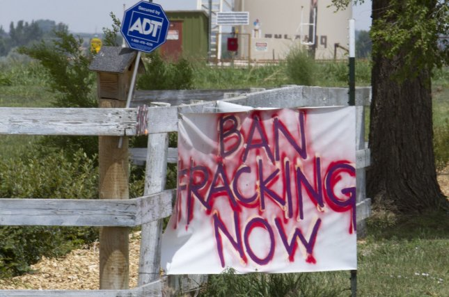 In separate lawsuits, California and advocacy groups sued the Trump administration for dissolving federal rules that govern hydraulic fracturing. File photo by Gary C. Caskey/UPI