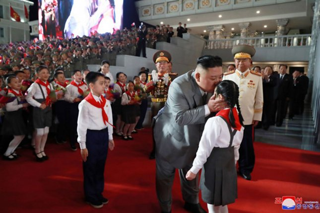 Kim Jong Un may have admitted the country was unable to keep COVID-19 out, according to a Japanese news service. File Photo by KCNA/UPI