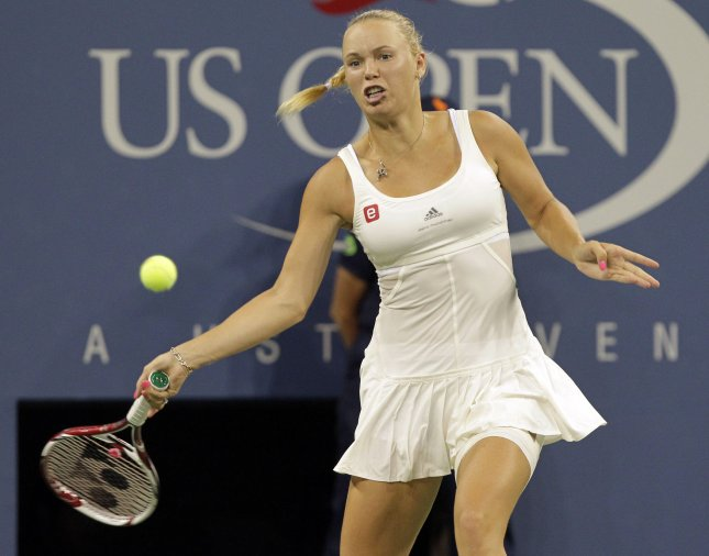 Caroline Wozniacki, shown at last year's U.S. Open, picked up a first-round win Tuesday at the e-Boks Open in her native Denmark. Wozniacki has won the last two titles at the event. UPI/John Angelillo
