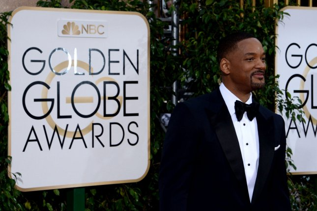 Actor Will Smith attends the 73rd annual Golden Globe Awards in Beverly Hills on January 10, 2016. Photo by Jim Ruymen/UPI
